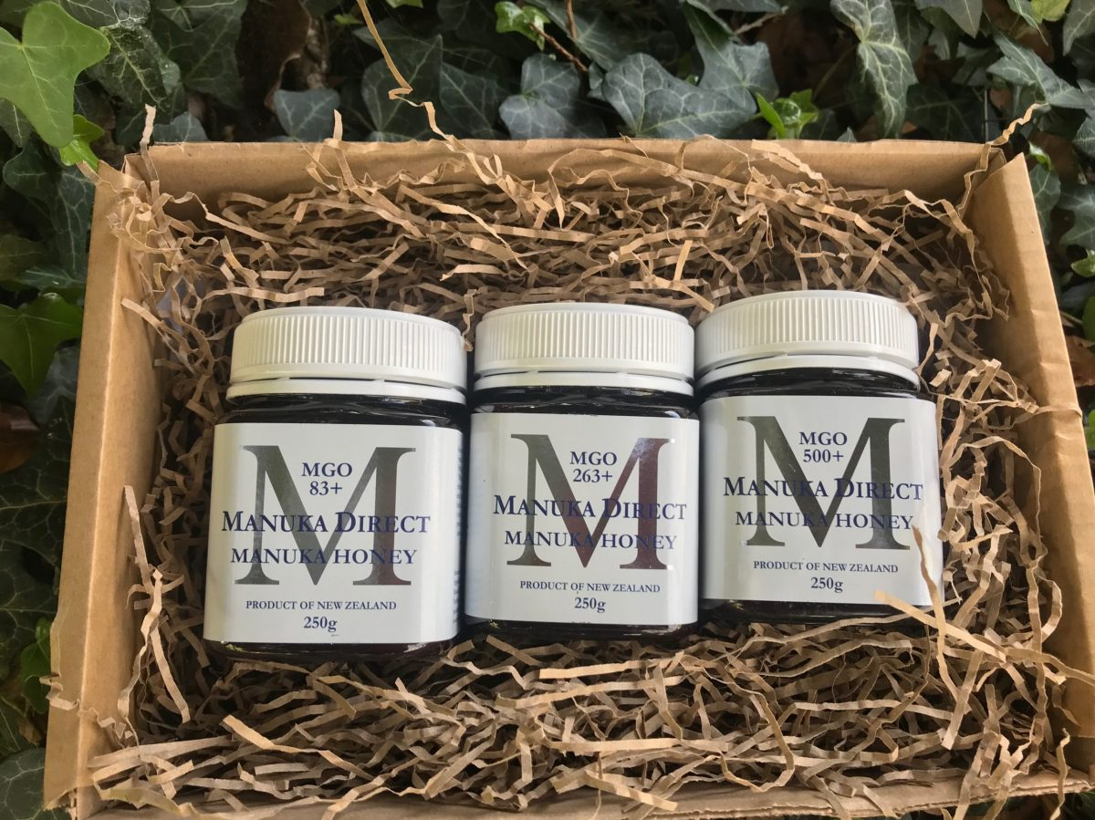 three in a box manuka honey
